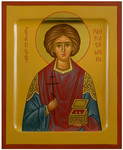 Icon: Holy Great Martyr and Healer Pantheleimon - PS2 (5.1''x6.3'' (13x16 cm))