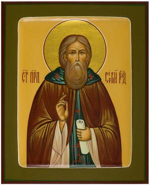 Icon: Holy Venerable Sergius of Radonezh - PS3 (5.1''x6.3'' (13x16 cm))