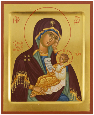Icon of the Most Holy Theotokos the Healer of the Sorrows - PS1 (6.7''x8.3'' (17x21 cm))
