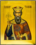 Icon: Holy Great Prince Vladimir Equal-to-the-Apostles - PS7 (15.7''x19.7'' (40x50 cm))