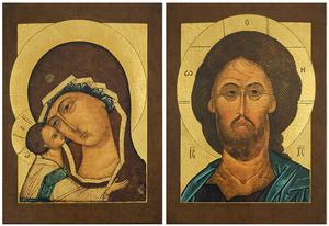 Wedding icon pair - VP10i (4.7''x3.5'' (12x9 cm))