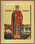 Icon: Holy Great Prince Vladimir Equal-to-the-Apostle - G1 (5.1''x6.3'' (13x16 cm))