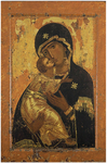 Icon of the Most Holy Theotokos of Vladimir - BV04 (4.7''x7.1'' (12x18 cm))