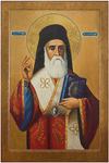 Icon: Holy Hierarch Nectarios of Egina - NE48 (3.1''x4.7'' (8x12 cm))