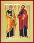 Icon: Holy Apostles Peter and Paul - G1 (5.1''x6.3'' (13x16 cm))