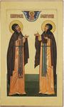 Icon: Holy Venerable Prince Peter and Princess Thebroniya - PF32