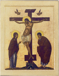 Icon: Crucifixion of the Lord - P01 (3.7''x4.7'' (9.5x12 cm))