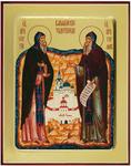 Icon: Holy Venerable Sergius and Herman of Balaam - G2 (5.1''x6.3'' (13x16 cm))
