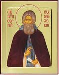Icon: Holy Venerable Sergius of Radonezh - G3 (5.1''x6.3'' (13x16 cm))