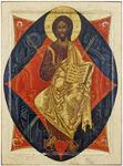 Icon: Christ in Majesty - S25 (3.5''x4.7'' (9x12 cm))