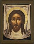 Icon of Christ Not-Made-by-Hands - SN01 (5.5''x7.1'' (14x18 cm))