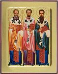 Icon: Three Holy Hierarchs - G2 (5.1''x6.3'' (13x16 cm))