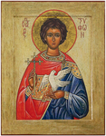 Icon: Holy Martyr Tryphon - MT61 (3.7''x4.7'' (9.5x12 cm))