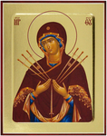 Icon: Most Holy Theotokos of the Seven Arrows - G2 (5.1''x6.3'' (13x16 cm))