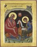 Icon: Holy Apostles St. John the Theologian and St. Prochorus - no.2432 (9.4''x11.8'' (24x30 cm))