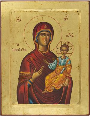 Icon of the Most Holy Theotokos Hodigitria - B6 (9.4''x12.2'' (24x31 cm))