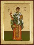 Icon: Holy Hierarch St. Spyridon of Thremethius - X2529 (9.4''x11.8'' (24x30 cm))