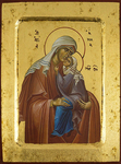 Icon: Holy Righteous Anna the Prophettes with the Most Holy Theotokos - 3060 (5.5''x7.1'' (14x18 cm))