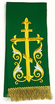 Embroidered bookmark - Flourishing Cross