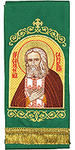 Embroidered bookmark - Holy Venerable Seraphim of Sarov
