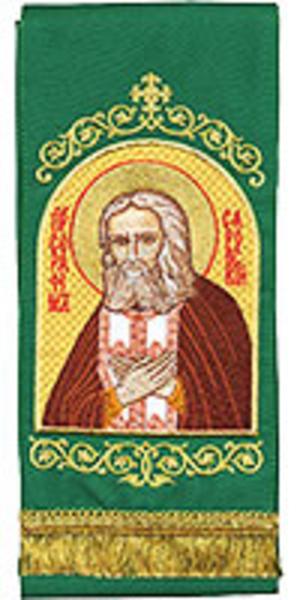 Embroidered bookmark - Holy Venerable Seraphim of Sarov