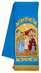 Embroidered bookmark - The Annunciation