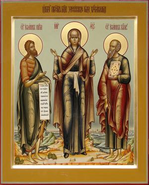 Icon: Most Holy Theotokos the Mediatress of the Christians - B