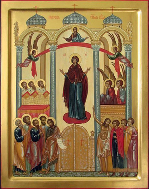 Icon: Protection of the Most Holy Theotokos - I