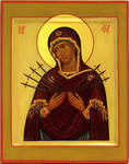 Icon of the Most Holy Theotokos of the Seven Arrows - I