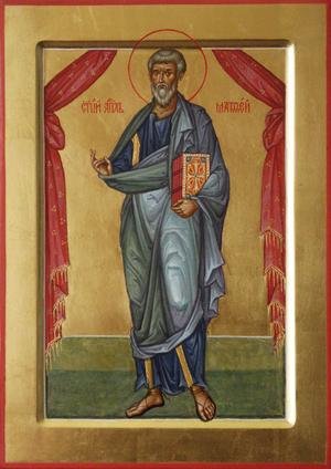 Icon: Holy Apostle and Evagelist St. Mathew - L