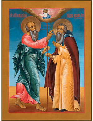 Icon: Apperance of St. John the Theologian to St. Abraham of Rostov - AR651