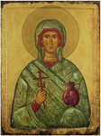 Icon: Holy Great Martyr Anastasia, the Deliverer from Potions - AU01