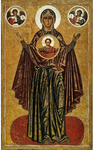 Icon: the Most Holy Theotokos the Great Panagia - B28