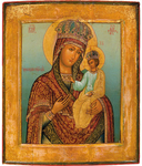 Icon of the Most Holy Theotokos of the Chernigov-Gethsemane the Queen of Heaven - BG02