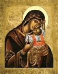 Icon of the Most Holy Theotokos Eleusa of the Pskovian Caves - BU08