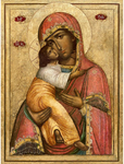 Icon of the Most Holy Theotokos Eleusa of the Pskovian Caves - BU57