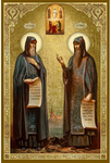 Icon: Holy Venerable Sergius and Herman, the Wonderworkers of Balaam - PSG712
