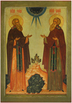 Icon: Holy Venerable Zosimas and Sabbatius of Solovki - PZS42