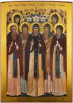 Icon: Synaxis of the Saints of the Pskovian Caves - SPPS55