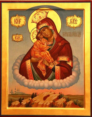 Icon: Most Holy Theotokos of the Kievan Caves - O
