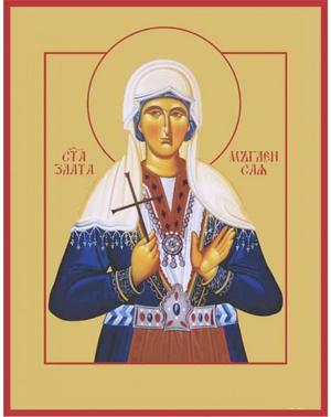 Icon: Holy Martyr Zlata - O