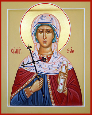 Icon: Holy Martyr Zoe - O