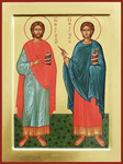 Icon: Holy Martyrs Markian and Martirius of Constantinople - O