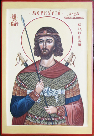 Icon: Holy Great Martyr Mercurios of Cappdocia - O