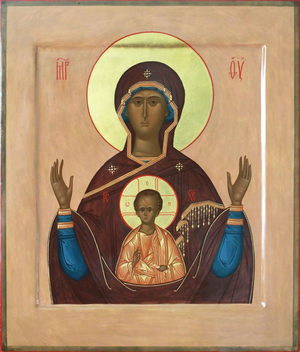 Icon: Most Holy Theotokos of the Sign - O