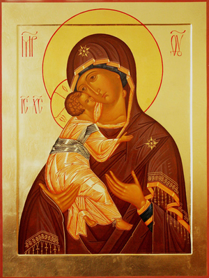 Icon: Most Holy Theotokos of Vladimir - R2