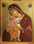 Icon: Most Holy Theotokos of Cardiotissa - U (35.4''x46.1'' (90x117 cm))