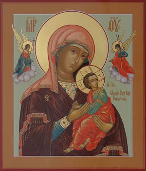 Icon: Most Holy Theotokos of the Passion - V (10.2''x12.6'' (26x32 cm))