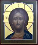 Icon: Christ Pantocrator - V (3.9''x4.7'' (10x12 cm))