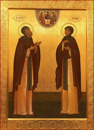 Icon: Holy Venerable Cyril and Mary of Murom